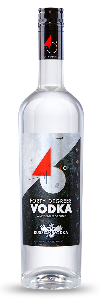 Forty Degrees Vodka Bottle